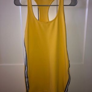 Bright Yellow Dress with Race Stripe